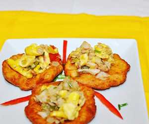 Ackee and Saltfish Bruschette